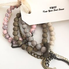 The Rosé Set by KYSSBracelets on Etsy