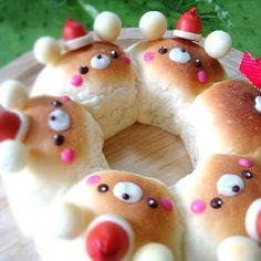 Santa bear buns♡