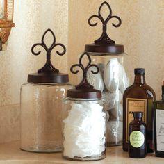 Fleur de Lis jars by Napa Home & Garden.