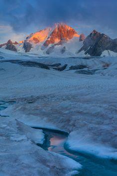 glacier du Tour in sunrise. French Alps photo by porojnicu on Envato Elements French Alps, Sunrise, Tours, Photography, Inspiration, Outdoor, Ideas, Mont Blanc, Biblical Inspiration