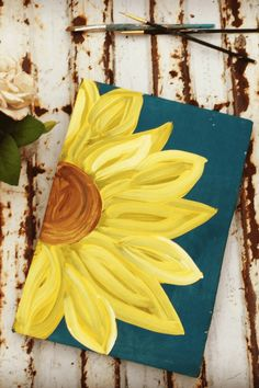 This listing is for one yellow handpainted sunflower sign. It is made from pallet wood and handpainted so not everyone is the same. This unique piece is one of our biggest sellers and I am sure you will love it as well. Size: 9″x12″