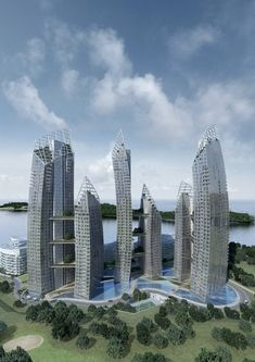 Reflections @ Keppel Bay in Singapore by Daniel Libeskind
