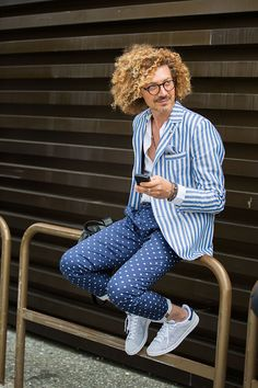 Street looks à la Fashion Week homme printemps-ete 2016 du Pitti Uomo | Vogue