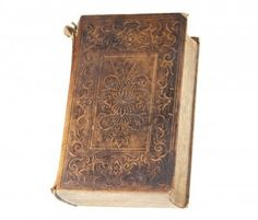 Picture of Antique book with frayed leather cover, isolated with clipping path stock photo, images and stock photography. Mysterious Words, He Is Able, Antique Books, Leather Cover, Occult, Stock Photos, Antiques, Don't Judge, Pine