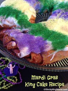 Mardi Gras King Cake Recipe perfect for Fat Tuesday