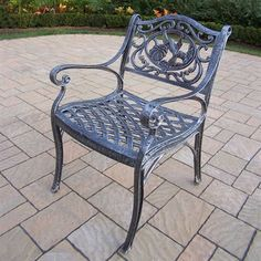 Oakland Living Hummingbird Cast Aluminum Arm Chair, Antique Pewter -- Wonderful of your presence to drop by to see our image. (This is an affiliate link) Outdoor Dining Chairs, Dining Arm Chair, Patio Chairs, Outdoor Seating, Outdoor Furniture, Living Furniture, Furniture Sale, Garden Furniture, Antique Pewter