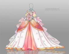 Adoptable Auction 37 OPEN by Nagashia on DeviantArt Dress Drawing, Drawing Clothes, Fashion Design Drawings, Fashion Sketches, Cute Dresses, Beautiful Dresses, Kleidung Design, Anime Dress, Dress Sketches