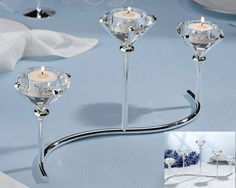 "Diamond Theme Decorations   Forever Diamond"" Candle Centerpiece"