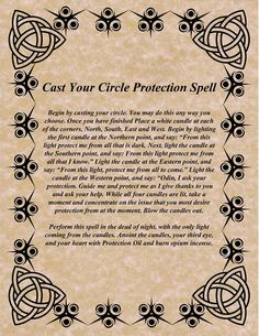Magick Spells:  Cast Your Circle Protection #Spell.