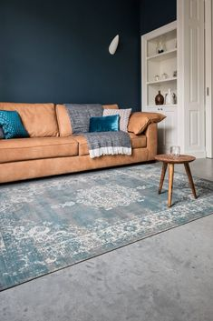 Lifa-Living Cool Vintage Grey Blue Living Room Carpet, Living Room Grey, Home Living, Rugs In Living Room, Cool Vintage, Happy New Home, Blue Carpet, Scandinavian Home, Decoration