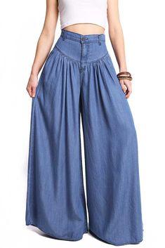 Deep And Wide Denim Pants