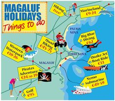 magaluf holiday map
