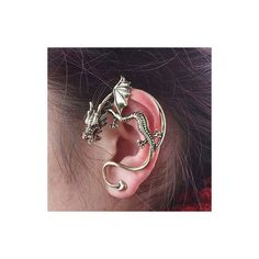 Rotita Woman Bronze Dragon Earring Only One (€2,80) ❤ liked on Polyvore featuring jewelry, earrings, gold, bronze earrings, bronze jewelry and party jewelry
