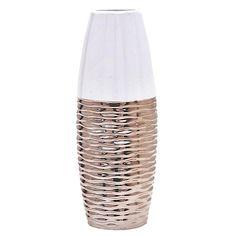 Βάζο Λευκό-Χάλκινο 12Χ12Χ33 INART Lava Lamp, Table Lamp, Vase, Home Decor, Lamp Table, Interior Design, Vases, Home Interior Design, Home Decoration