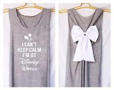 I'can keep calm i'm at Disney world Mickey Tank Premium with Bow : Workout Shirt - Keep Calm Shirt - Tank Top - Bow Shirt - Razor Back Tank