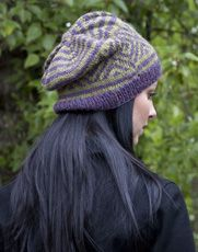 Rachel's Slouchy Foothills Hat - knit in Cascade 220 Sport - Free Download
