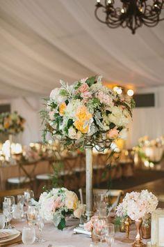 Day of Gal Wedding centerpieces romantic blush wedding