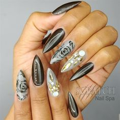 Magnetic Rose Nail Art by MisAshton from Nail Art Gallery