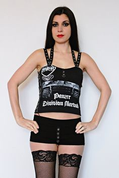 Marduk shirt black metal tank lace up top alternative clothing apparel reconstructed rocker clothes altered band tee t-shirt