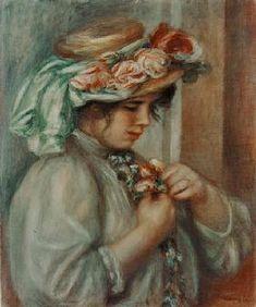 Pierre-Auguste Renoir - Girl with hat.