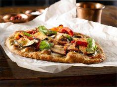 Tandoori Grilled Vegetable and Pesto Naan Pizza