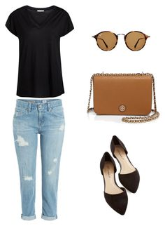 """""""Senza titolo #26"""" by imnotniceatall on Polyvore featuring moda, AG Adriano Goldschmied, Ray-Ban, Tory Burch e Pieces"""