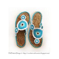 Yo-Yo Sandals E-Book Crochet Pattern and Cord Soles Crochet Sandals, Crochet Shoes, Crochet Slippers, Crochet Clothes, Bonnet Crochet, Crochet Baby, Knit Crochet, Thread Crochet, Crochet Crafts