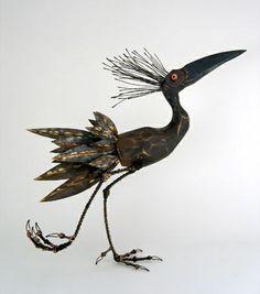 Thomas Hill bird sculpture