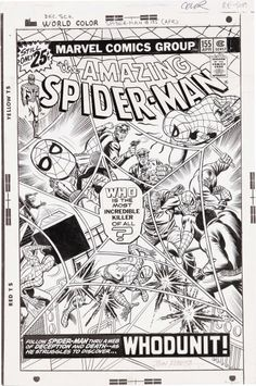 John Romita Sr. - The Amazing Spider-Man #155 Cover Original Art (Marvel, 1976)