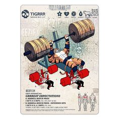 chest exercise: bench extended sets - tiger