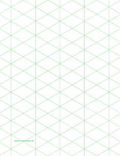 This letter-sized isometric graph paper has one-inch figures. Free to download and print