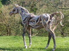 Driftwood horses #Driftwood, #Horse, #RecycledArt