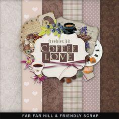 Far Far Hill: New Freebies Kit - Coffee Love