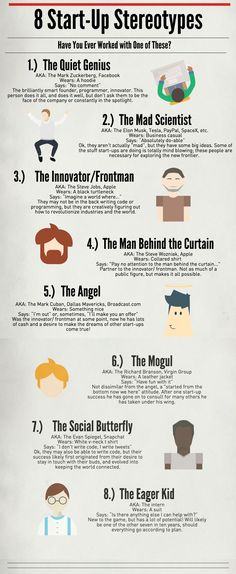 8 Start-Up Stereotypes: Have You Ever Worked With One Of These [Infographic]