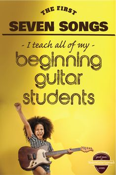 These are the first songs I teach all of my beginning guitar students. They use easy chords and can help anyone learn to play the guitar! Guitar Strumming, Easy Guitar Songs, Guitar Chords For Songs, Music Guitar, Playing Guitar, Learning Guitar, Ukulele, Fingerstyle Guitar, Piano Music