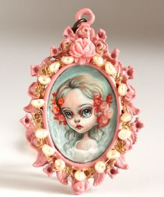 Image of Ophelia Rose - original cameo painting by Mab Graves