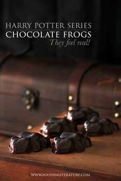 Harry Potter; Honeyduke's Chocolate Frogs - Food in Literature. Uses milk and gelatin, could be interesting.