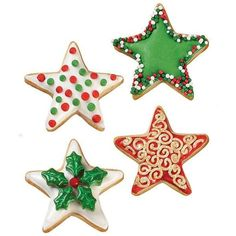 Christmas Star Cookies ❤ liked on Polyvore featuring christmas, food, filler, sweets and xmas