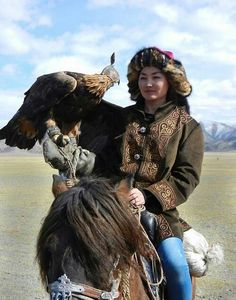 Woman Eagle Hunter . Mongolia