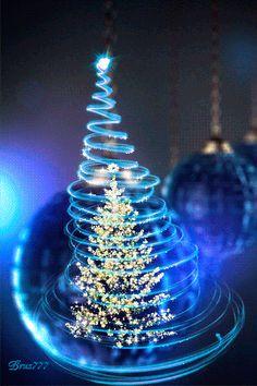 Новогодняя елка - анимация на телефон №1295341