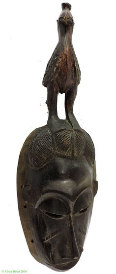 """This Baule mask falls into a special grouping known as 'portrait masks', Kpan Pre, Kpan Kpan.These masks are said to portray an honored person of the village who is celebrated during a ceremonial dance known as """"Mblo"""".   eBay!"""