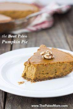 The Best Paleo Pumpkin Pie   The Paleo Mom