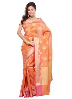 Chanderi Jacquard Saree