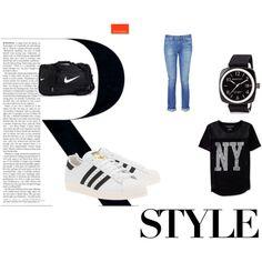 Moda by leoposadas on Polyvore featuring moda, Aéropostale, rag & bone, adidas Originals, NIKE and Briston