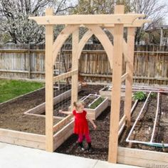 gothic arch vegetable garden arbor thumb