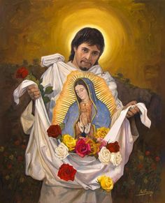 our lady of guadalupe at DuckDuckGo Blessed Mother Mary, Blessed Virgin Mary, Catholic Art, Catholic Saints, Religious Images, Religious Art, Mother Mary Pictures, San Juan Diego, Mama Mary