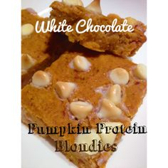 I created this recipe yesterday in honor of National Pumpkin Day! Whoop whoop! What a way to celebrate, and guilt-free I might add! There is a TON of protein in these blonde beauties, creamy pumpk...