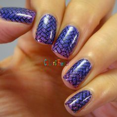 Colors Frenzy: NOTD: Girly Bits No Such Thing As A Purple Problem