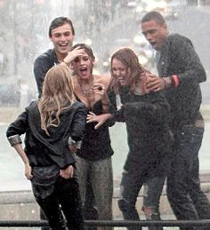 Miley Cyrus And The Cast Of 'LOL: Laughing Out Loud' Having Fun In Paris