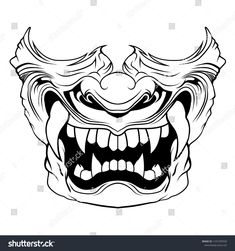 Find Samurai Mask Vector Illustration stock images in HD and millions of other royalty-free stock photos, illustrations and vectors in the Shutterstock collection. Hannya Maske Tattoo, Oni Mask Tattoo, Samurai Mask Tattoo, Hanya Tattoo, Demon Tattoo, Japanese Mask Tattoo, Japanese Tattoo Designs, Mascara Hannya, Samurai Artwork